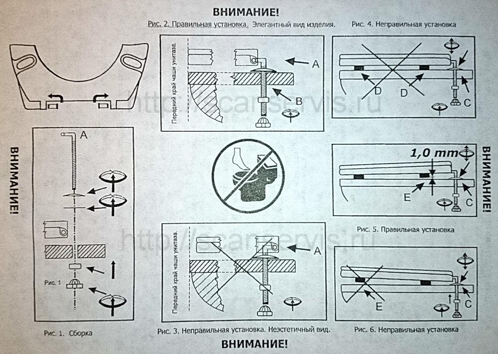 Инструкция к унитазу santek